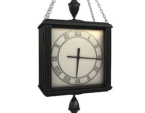 3D model Double sided hanged clock