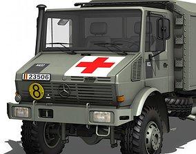 Mercedes Benz Unimog - Belgian Ambulance 3D model