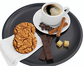Coffee and cookies drink 3D
