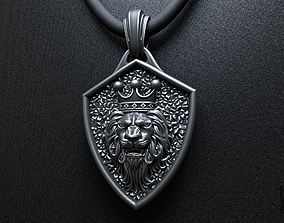 lion king of beasts pendant 3D printable model