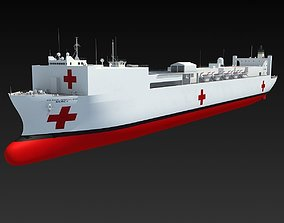 USNS Mercy Hospital Ship T-AH-19 3D