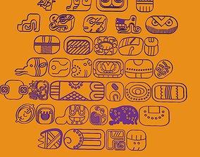 mayan glyphs 3D printable model