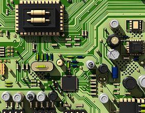 3D model Circuit Board City