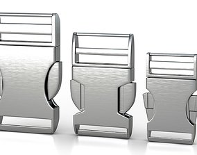 Set of 3 Buckles for Lanyards or similar animated 3