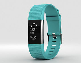 Fitbit Charge 2 Teal 3D