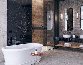 3D Bathroom Noir Laurent scene FLAVIKER CATALOG