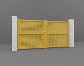 3D model wood Outdoor Gate
