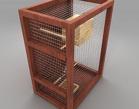 finch bird cage 3D model