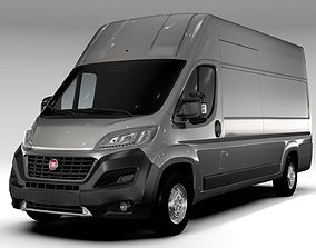 commercial 3D model Fiat Ducato Van L4H3 2017