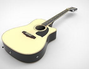 Ibanez Electroacoustic Guitar with Materials 3D model