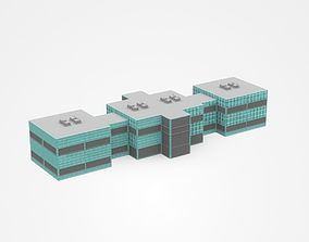 3D Together Connected Industrial Buildings