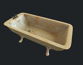 3D asset Old Bathtub pbr
