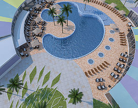 Outdoor Spa Pool 3D model