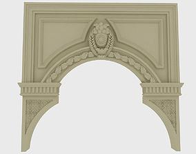 Classical Door 3D model architecture