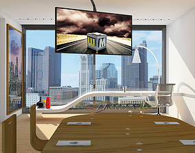 3D model Office scene Max 2011 2010