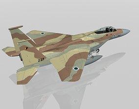 3D model F-15C Eagle Israeli Air Force military aircraft