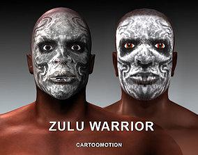 ZULU WARRIOR 3D model rigged
