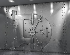 3D model Bank Vault and Coins