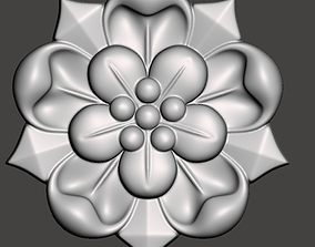WoodCarving floral detail - 3d model for CNC 2