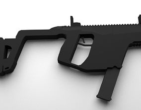 Really low poly Kriss Vector model 3D asset