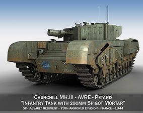 Churchill MK III AVRE 3D