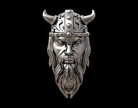 Viking head necklace 3D printable model