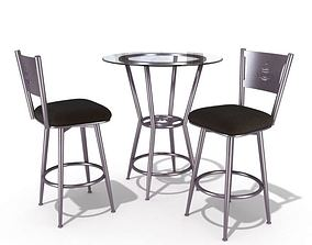 Modern Restaurant Table And Chairs 3D model