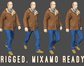 3D asset Rigged Lowpoly Man