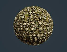 3D model Skull Bones Horror Seamless PBR Texture 10