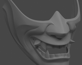 art Hannya half mask 3D print model