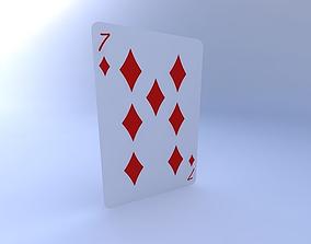 3D Seven of Diamonds