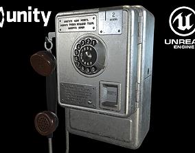 Soviet payphone AMT-47 3D model
