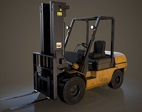 Forklift Truck 3D model realtime
