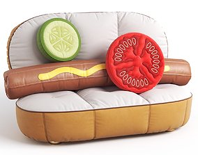 3D Seletti HOT DOG SOFA