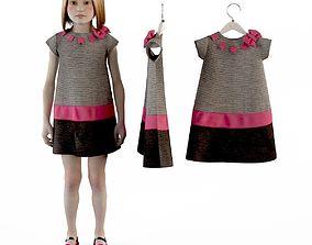 3D Girl dress t shirt skirt Baby clothes