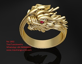 1602 Luxury Dragon Ring Verison 2 3D printable model