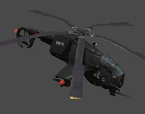 3D asset Helicopter chopper