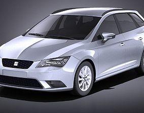Seat Leon ST 2016 VRAY 3D model