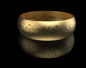3D print model Saurons Ring - One Ring
