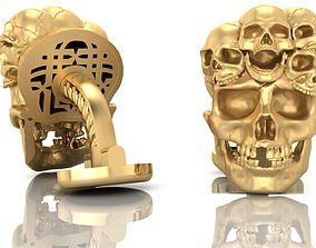 exclusive cufflinks with skulls 3D print model