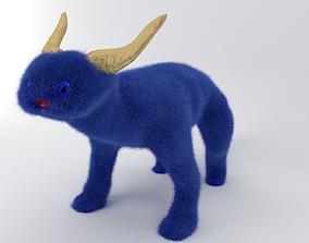 Fluffy monster toy 3D model