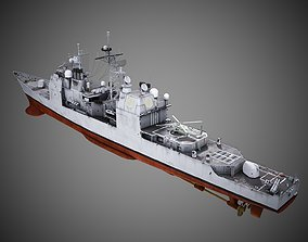 3D asset USA Navy Ticonderoga-class Guided-missile 1