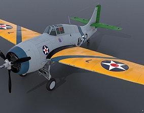 GRUMMAN F4F-3 WILDCAT VF41 - 41F7 3D model