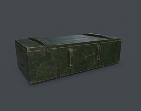 Old millitary ammo box 3D asset PBR