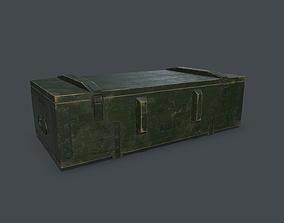 Old millitary ammo box 3D asset PBR