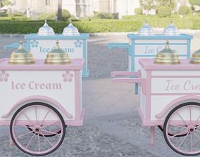 Ice Cream Cart 3D asset