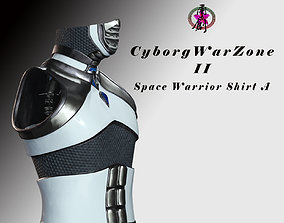 Cyborg Warzone - Space Warrior Shirt A future 3D asset