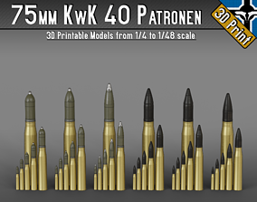 75mm KwK 40 - StuK 40 - Pak 39 patr - 1-4 to 1-48 scale 1