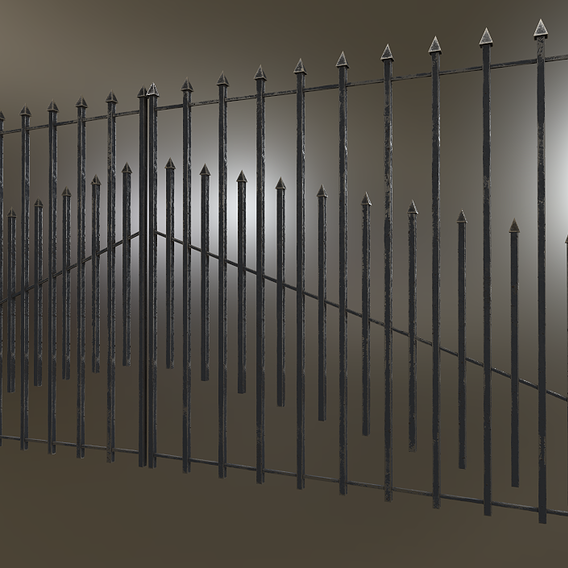 Iron/Silver Gate Fence PBR