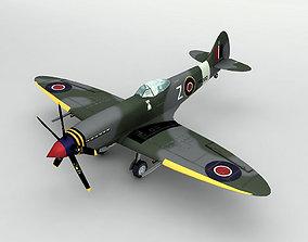 3D asset Supermarine Spitfire MK XVIII Aircraft LOW